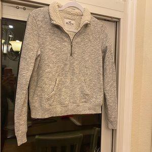 Hollister cropped sweatshirt.